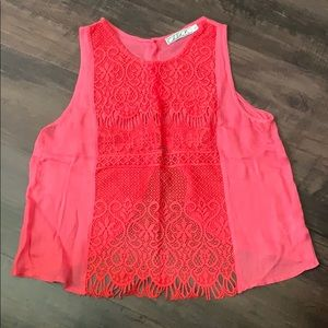 Coral open back tank